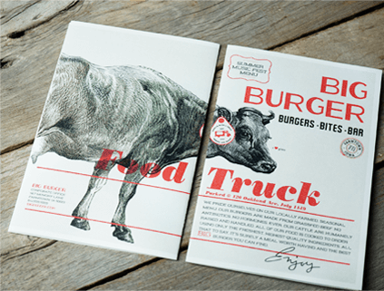 Big Burger Food Truck Menu